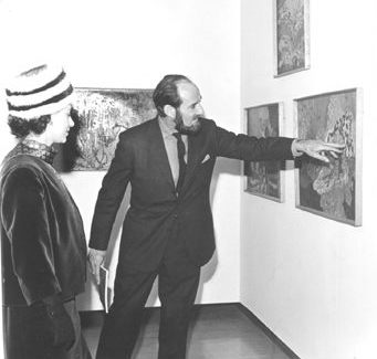 Frank McEwen and Queen Elizabeth